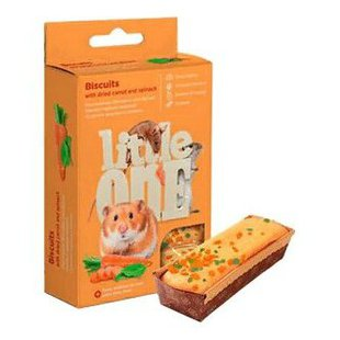 Лакомство для грызунов Little One Biscuits with dried carrot and spinach